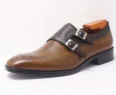 Two Tone Double Monk Strap Shoe