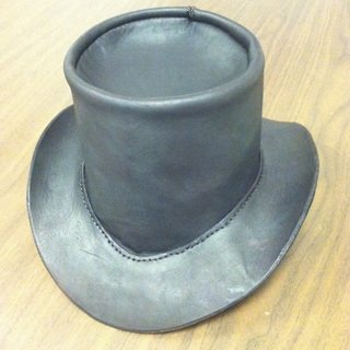 how to make a leather top hat gentlemint