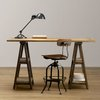 DIY Vintage-Inspired Sawhorse Trestle Desk