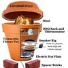 DIY Alton Brown's Flower Pot Smoker - smoke meat at home