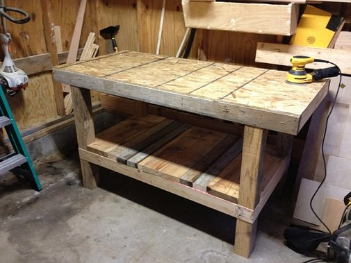 A Pallet Is Saved A Workbench Is Born Woodworking Talk