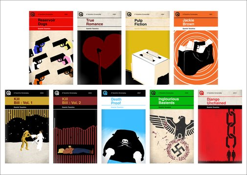 Penguin Style Book Covers Re-Imagined for Quentin Tarantino Films