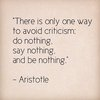One Way to Avoid Criticism