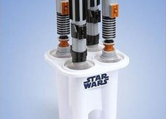 Lightsaber Popsicles.