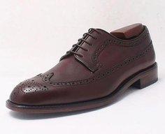 Custom Long Wing Brogue Derby Shoe