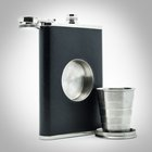 Shot Flask - The Original Hip Flask with a Built-in Collapsible Shot Glass