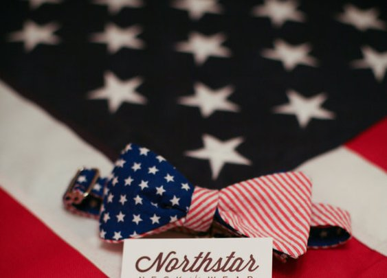 Men's Patriotic American Flag Bow Tie