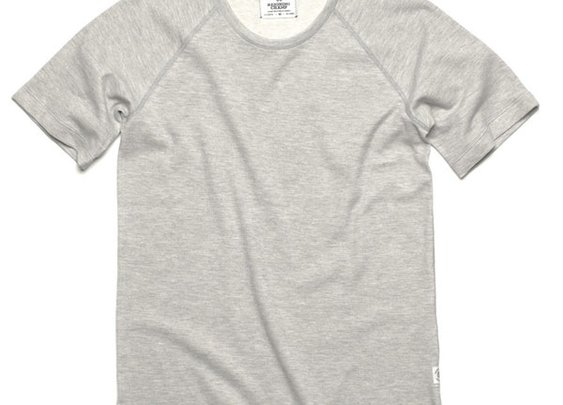 Reigning Champ Crewneck Raglan T-Shirt Heather Grey