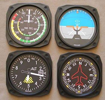 Flight Instrument Coasters
