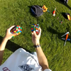 Stanford student solves 3 Rubik's cubes while he is juggling them !!