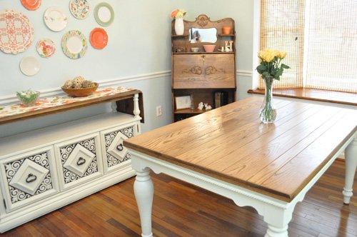 DIY Pottery Barn Farmhouse Table e Project Closer