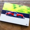 Porsche Carrera Mounted on Oak-Tasteful Automotive Home Decor