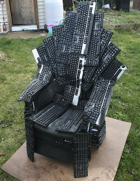 Throne Of Nerds - Keyboard Made Chair