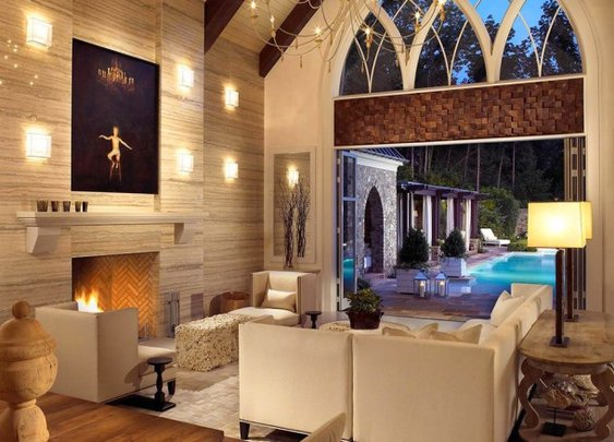 A combination of luxury and artistic decor-Pool House and Wine Cellar