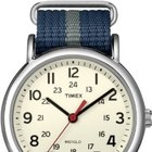 Timex Weekender Blue and Gray Nylon Strap Watch