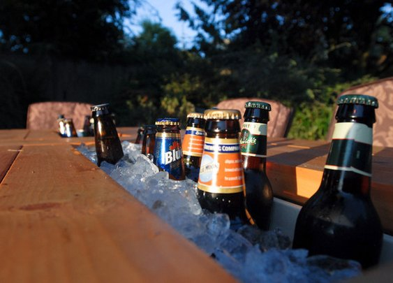 Make an Outdoor Table with a Built-In Cooler