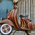 Wooden Vespa Scooter by Carlos Alberto