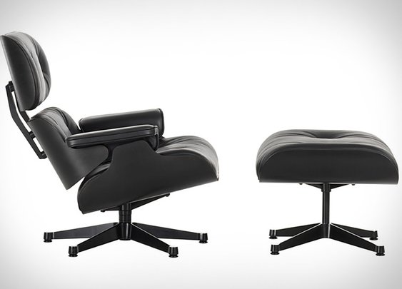 Eames Black Ash Lounge Chair & Ottoman | Uncrate