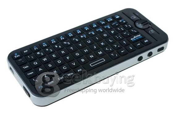 KP-810-16V 2.4G Wireless Mini Voice Keyboard Fly/Air Mouse with Speaker and Microphone - GeekBuying.com