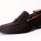 Custom suede loafer
