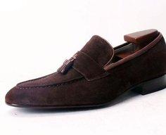 Custom suede loafer
