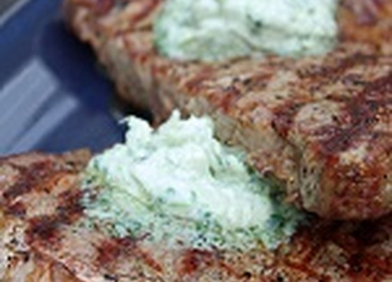 Grilled Ribeye Steak with Gorgonzola Butter - I Breathe... I'm Hungry...
