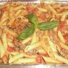 Penne with Seared Flank Steak
