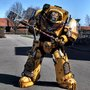 Imperial Fists Terminator Captain Costume Based on the Video Game 'Warhammer 40k'