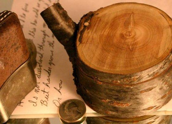 Natural wood keepsake box in Japanese wood by Hope & Grace Pens