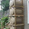 Stacked Rain Barrels