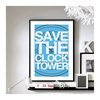 Back to the Future Save the Clock Tower - Wall Print