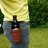 Leather beer drink holster