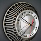 Recycled Hubcap Clocks