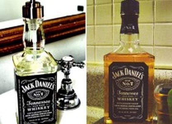 Recycled Jack Daniel's Whiskey Bottle Soap Dispenser | HiConsumption