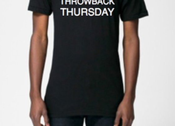Throwback Thursday Tee in Black available at Vintage Mens Goods. | vintagemensgoods