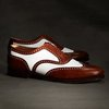 The Great Gatsby Collection White and Brown Spectator Wingtip - Brooks Brothers