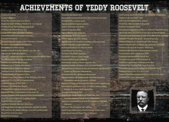 Teddy Roosevelt was the real deal.
