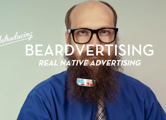 Beardvertising, Fuzzy Bearded Men Can Make Money By Clipping Mini Billboards on Their Beards