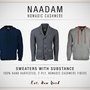 NAADAM 'Nomadic' Cashmere: Sweaters with substance....
