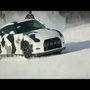 Nissan GTR runs up a snow covered mountain. [VIDEO]