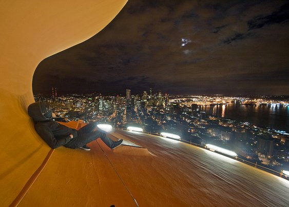 Daredevil on the Space Needle