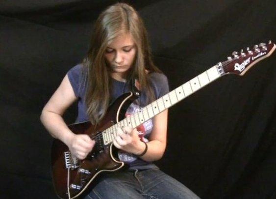 14-Year-Old Girl, Van Halen Cover