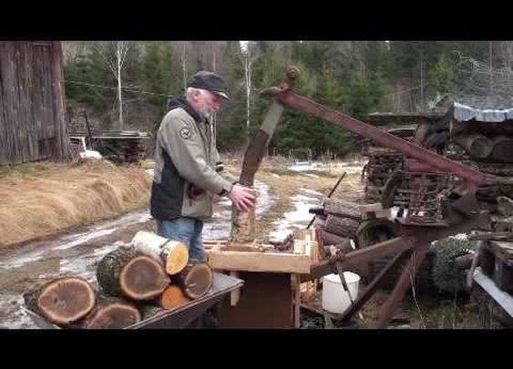 Off Grid DIY Wood Splitter - YouTube