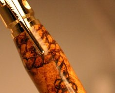 Bolt Action Bullet Pen in curly maple by Hope & Grace Pens