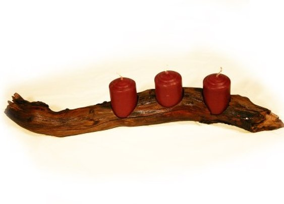 Natural driftwood votive candle holder by Hope & Grace Pens