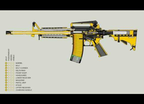 AR-15/M-16 Function Animation