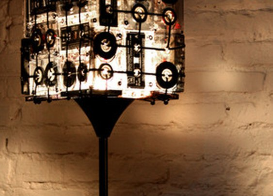CASSETTE TAPES FLOOR LAMP