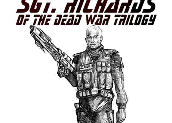 THE DEAD WAR SERIES: Check out this drawing of Dead War hero Sgt. Richards!