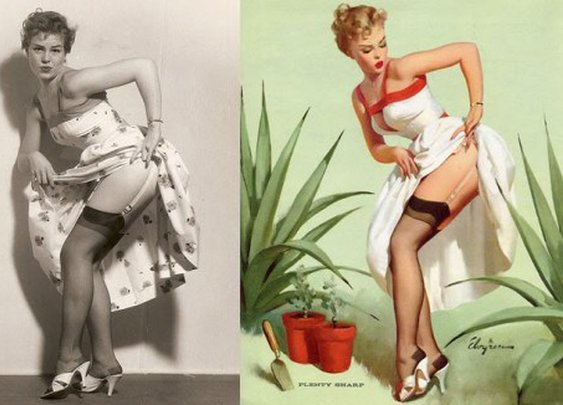 The Photos Behind Gil Elvgren's 1950s Pin-Up Girl Art