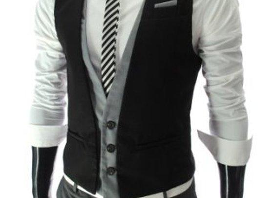 TheLees Mens slim fit waistcoat